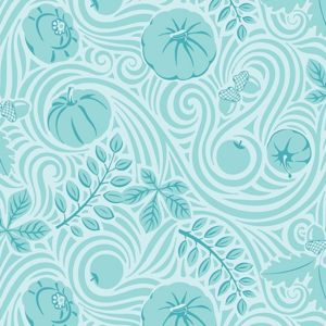 Autumnwind Aqua Fabric