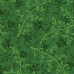 Berries Pine Fabric