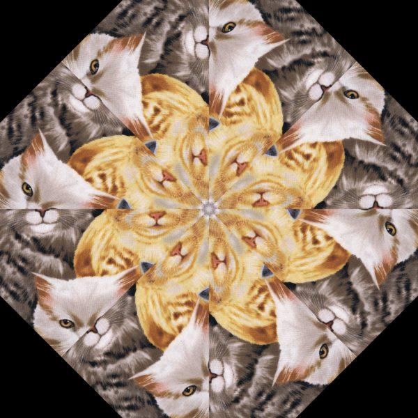 Cats Kaleidoscope Block