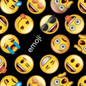 Classic Emoji Fabric - Black