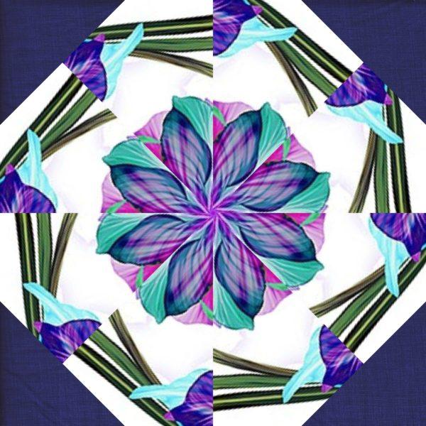 Floral Fantasia Kaleidoscope Block