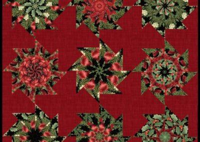 Pinwheel Poinsettia Quilt