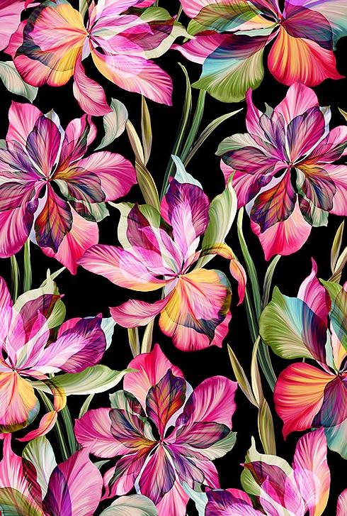 Floral Fantasia Black