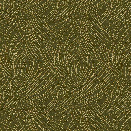Golden Pine Green Fabric
