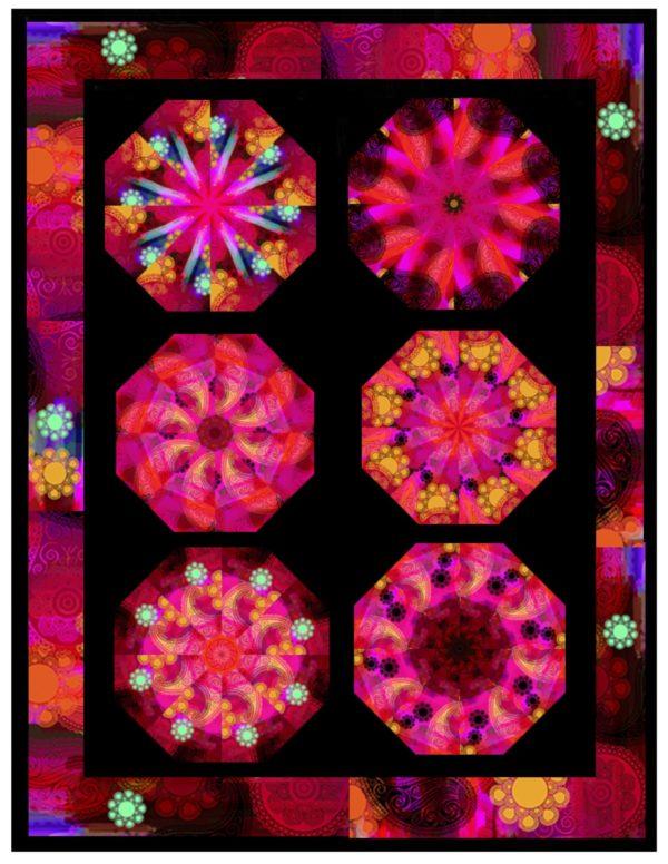 Moxie Half Kaleidoscope Quilt