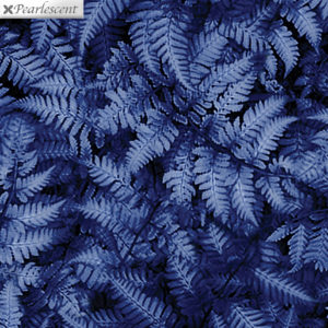 Pearl Ferns Cobalt Fabric