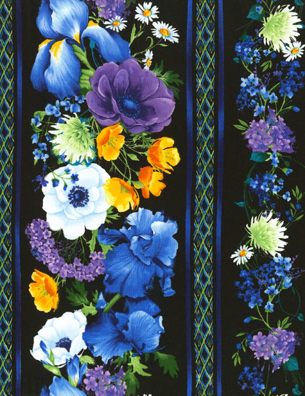 Reverie Border Stripe Fabric