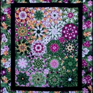 Tropical Fleur Kaleidoscope Within Quilt