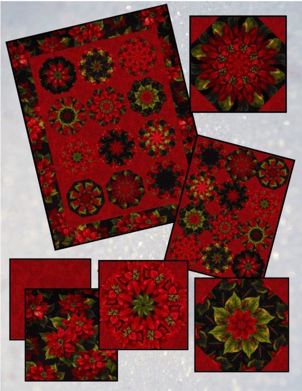 Scarlet Poinsettia Collage