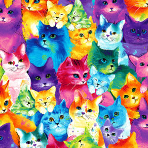meow za color cats