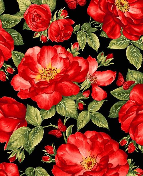 Garden Rose Black