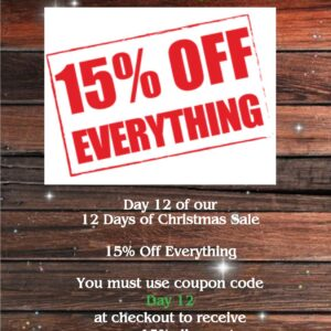 day 12 15% off