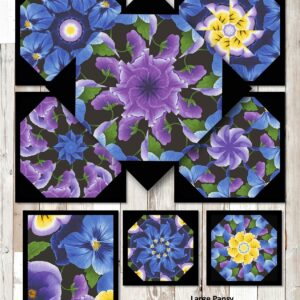 Large Pansy Collage
