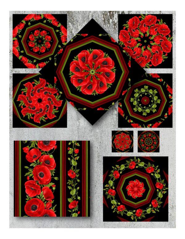 wild poppy collage