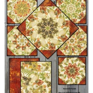 harvest floral collage