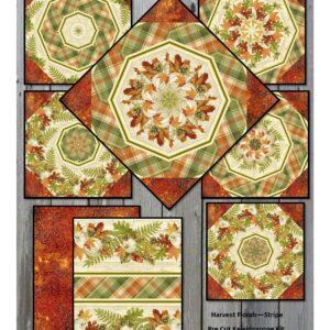 harvest floral stripe collage